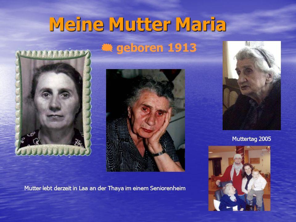 Meine Mutter Maria geboren 1913 Muttertag 2005