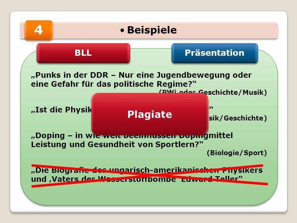 4 Beispiele Plagiate BLL Präsentation