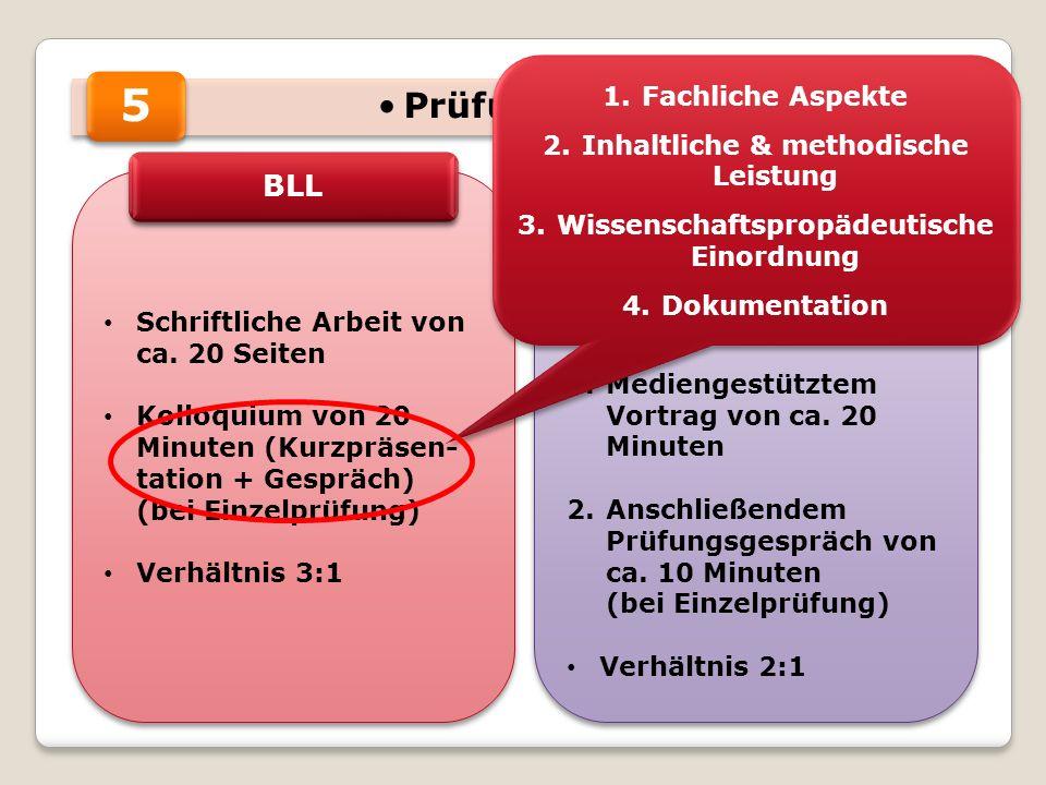 5 Prüfungsteile BLL Präsentation Fachliche Aspekte