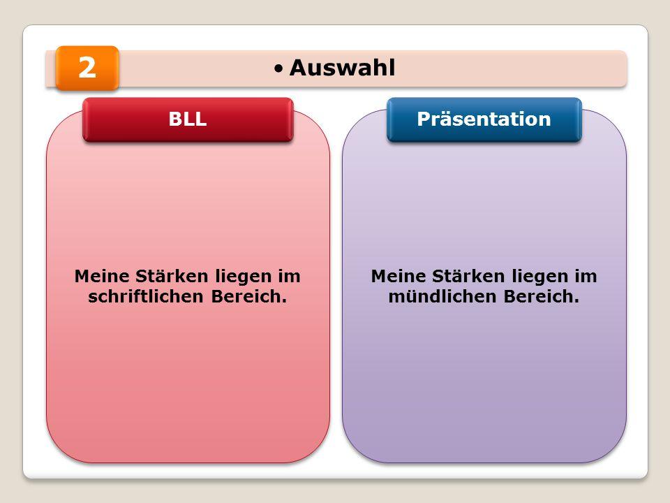 2 Auswahl BLL Präsentation