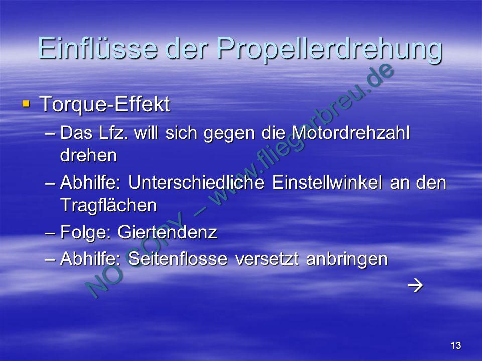 Einflüsse der Propellerdrehung