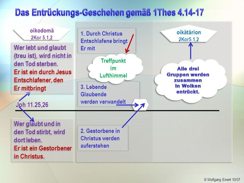 Das Entrückungs-Geschehen gemäß 1Thes 4.14-17