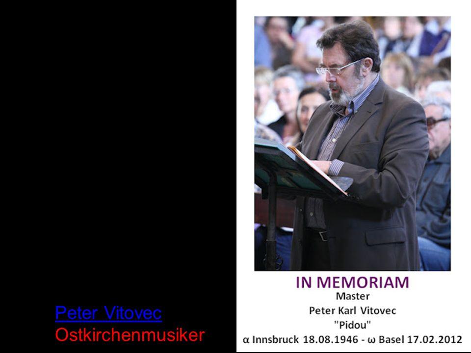 Peter Vitovec Ostkirchenmusiker