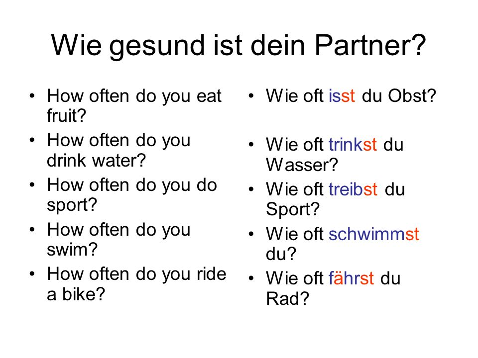 Wie gesund ist dein Partner