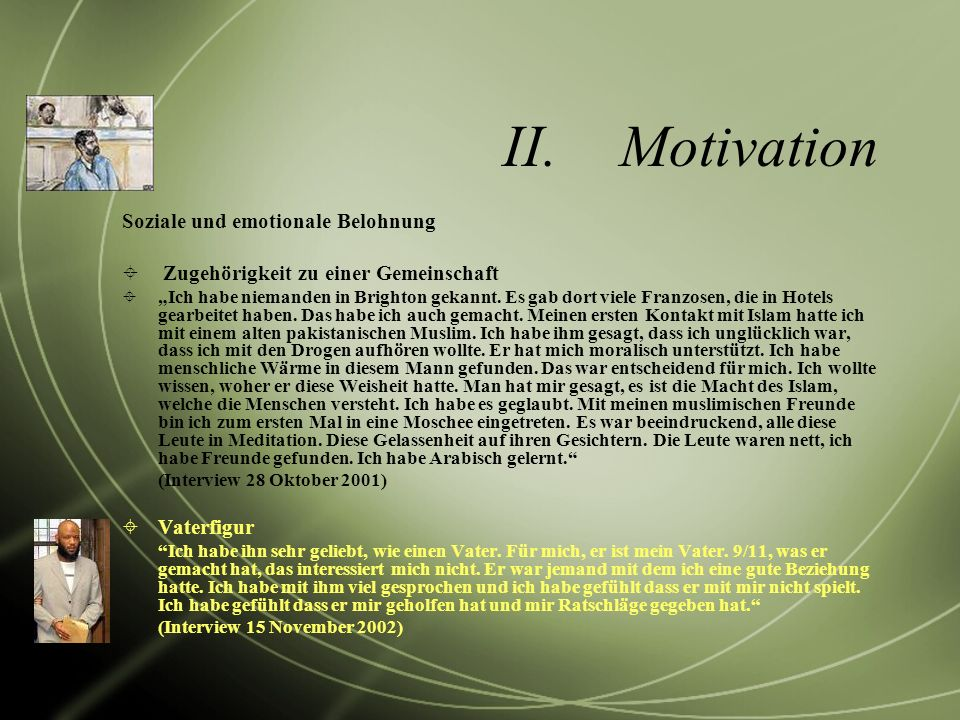 Motivation Soziale und emotionale Belohnung