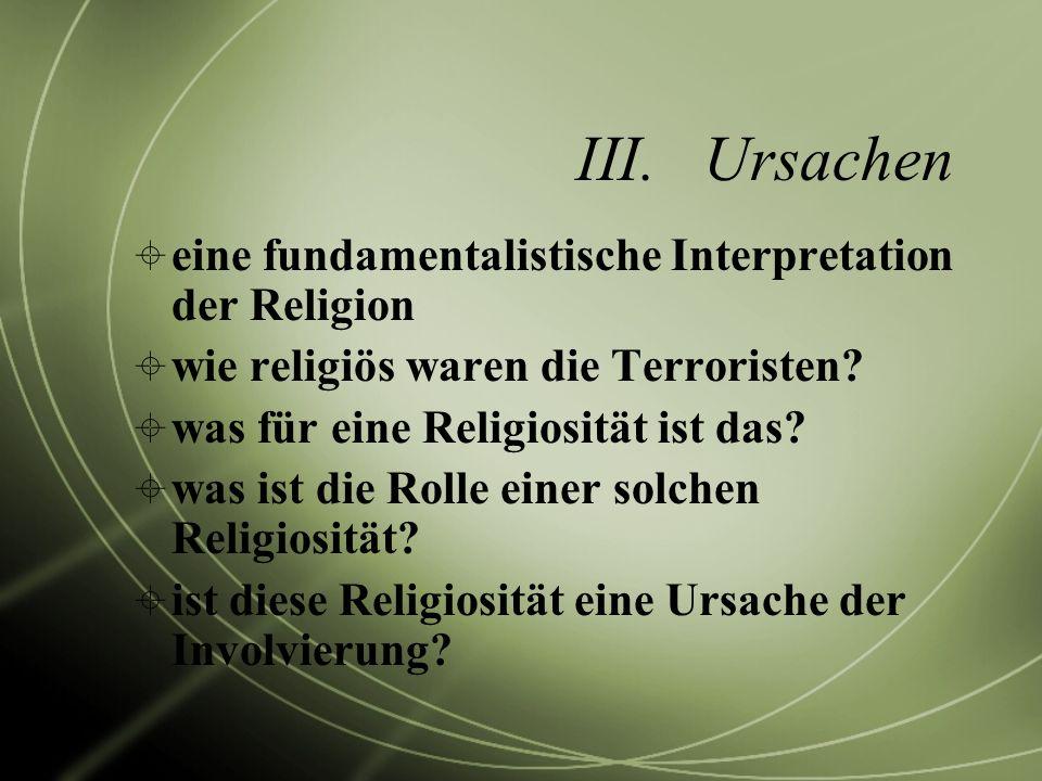 Ursachen eine fundamentalistische Interpretation der Religion