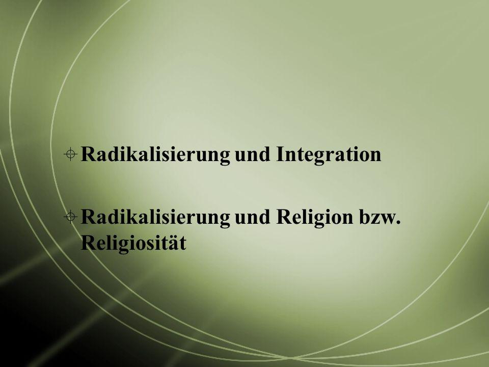 Radikalisierung und Integration