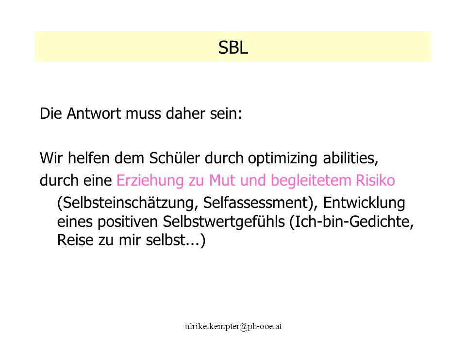SBL Die Antwort muss daher sein: