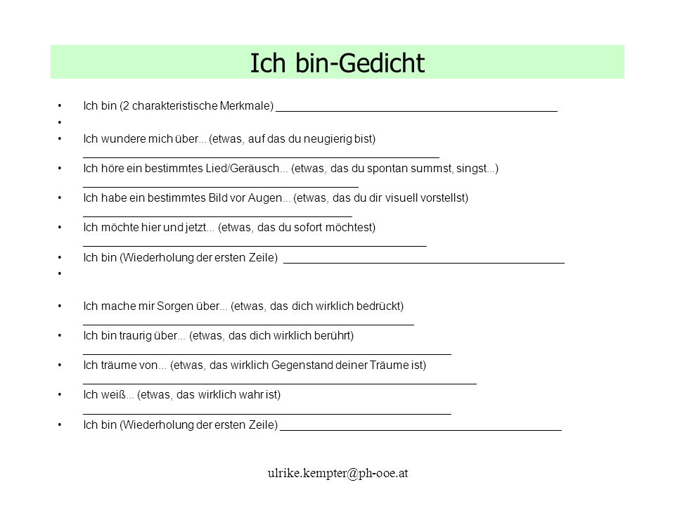 Ich bin-Gedicht ulrike.kempter@ph-ooe.at