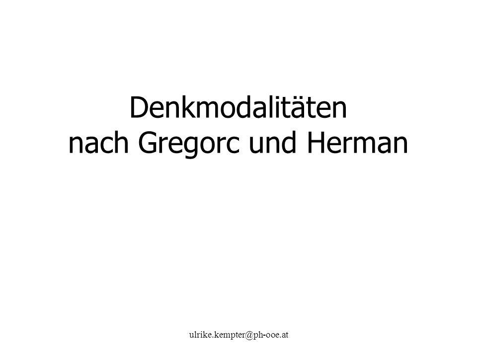 Denkmodalitäten nach Gregorc und Herman