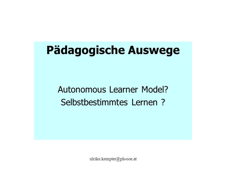 Pädagogische Auswege Autonomous Learner Model