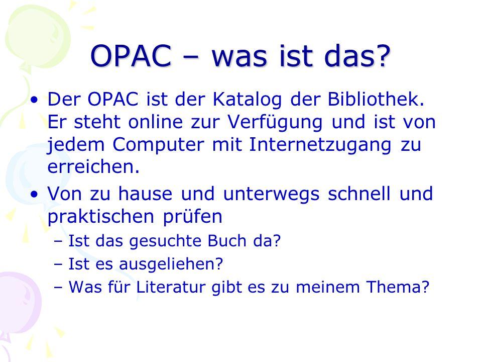 OPAC – was ist das