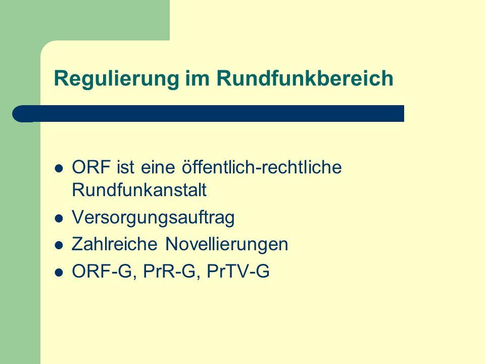 Regulierung im Rundfunkbereich