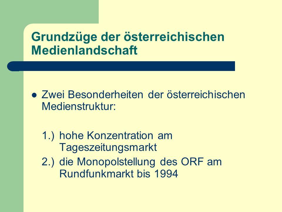 Grundzüge der österreichischen Medienlandschaft