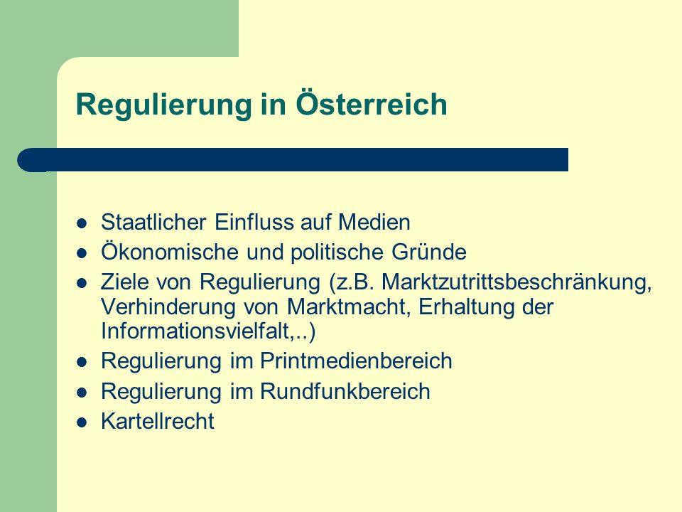 Regulierung in Österreich