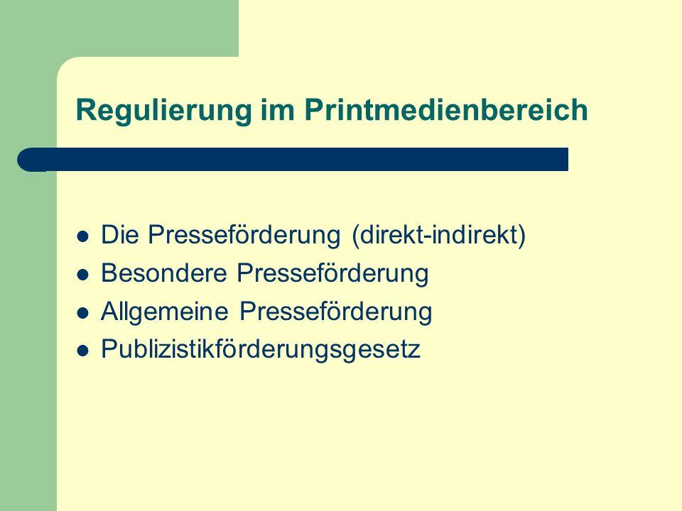 Regulierung im Printmedienbereich