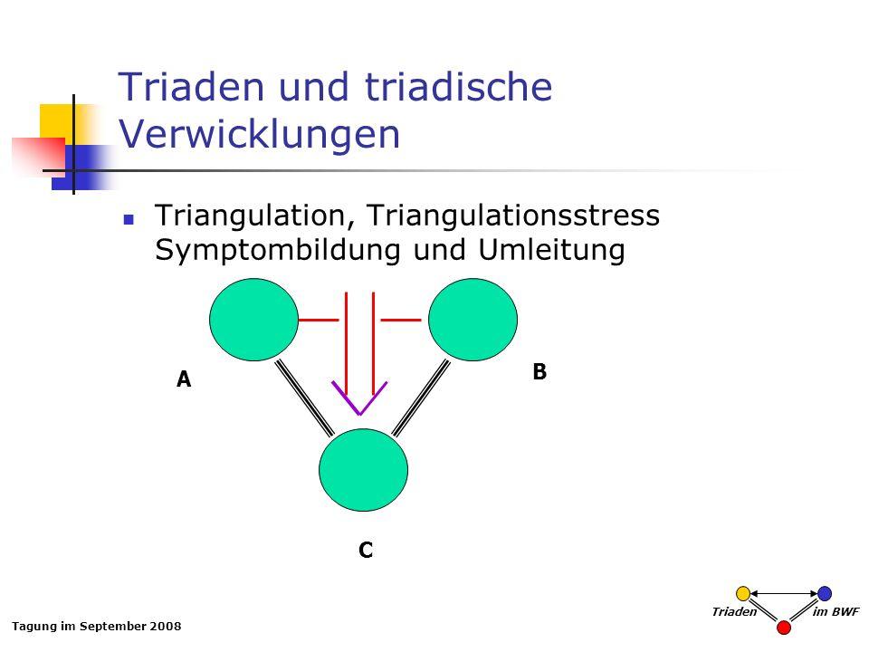Triaden und triadische Verwicklungen