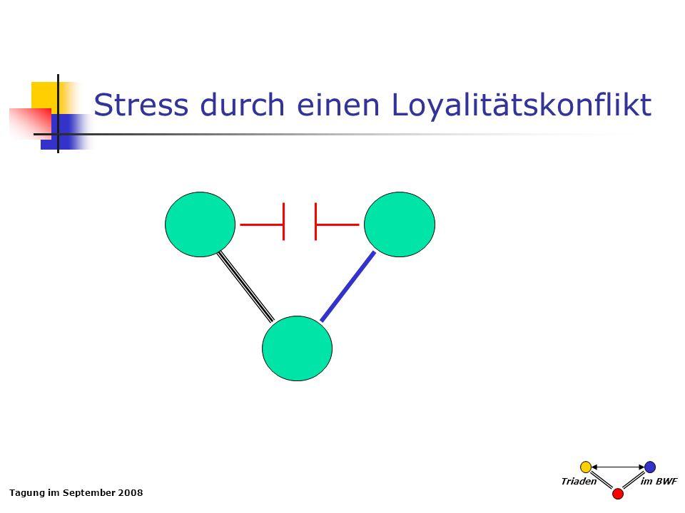 Stress durch einen Loyalitätskonflikt