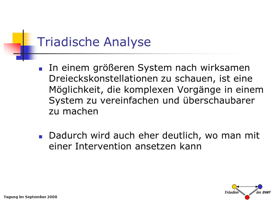 Triadische Analyse