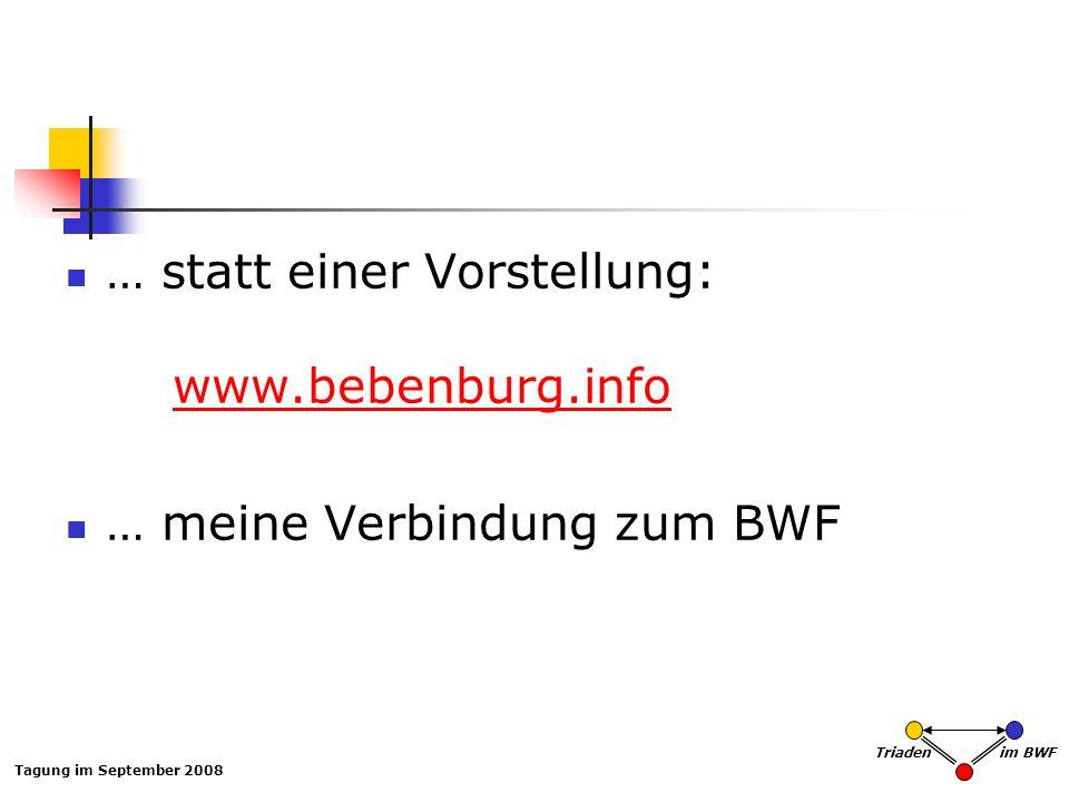 … statt einer Vorstellung: www.bebenburg.info