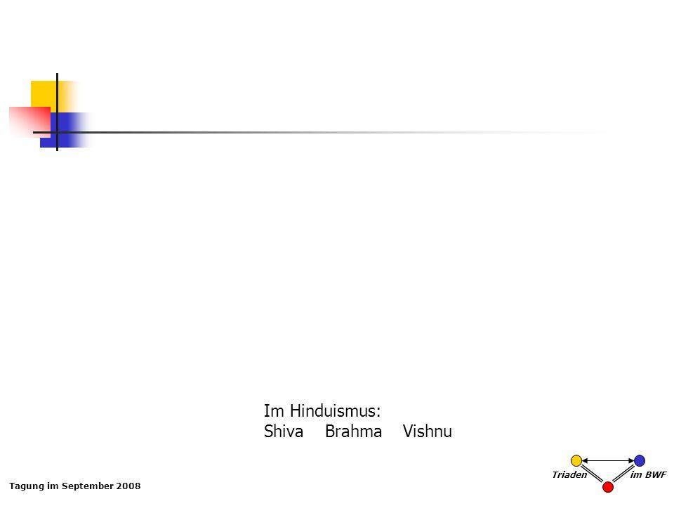 Im Hinduismus: Shiva Brahma Vishnu