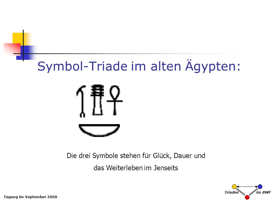 Symbol-Triade im alten Ägypten:
