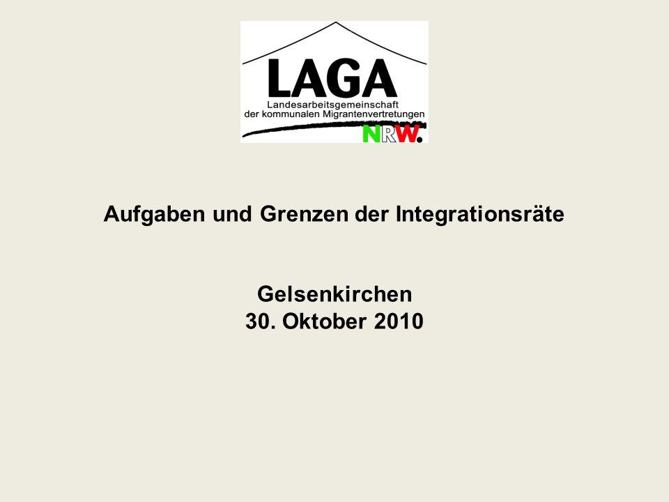 Aufgaben und Grenzen der Integrationsräte