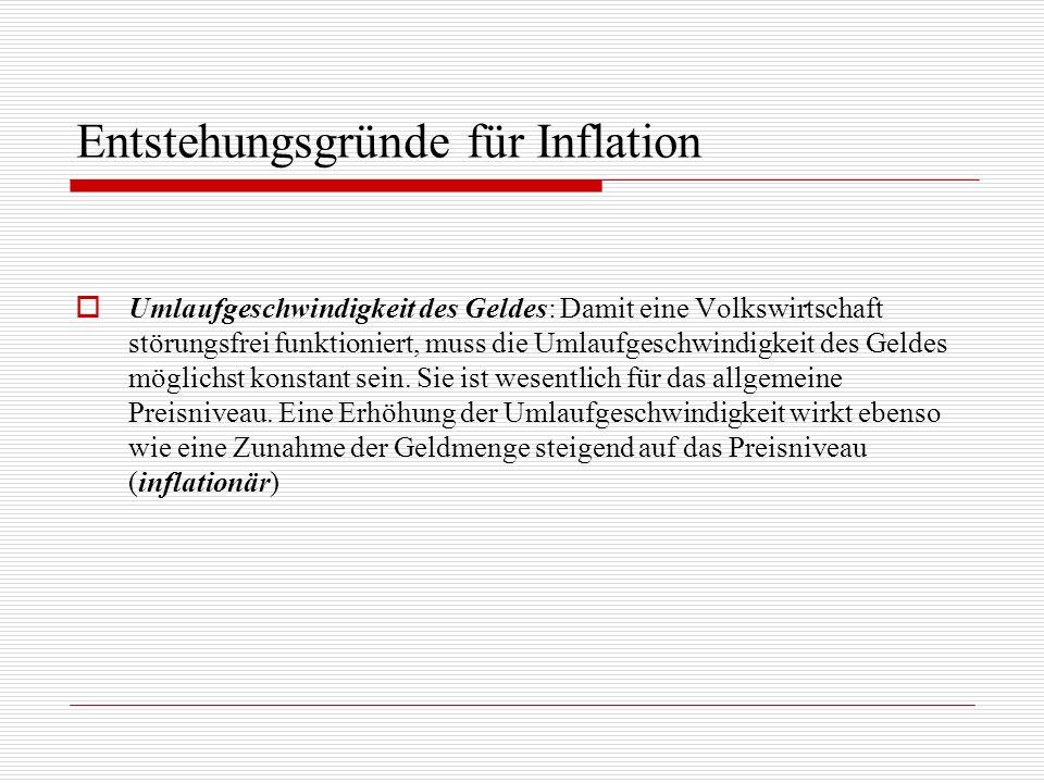 Entstehungsgründe für Inflation