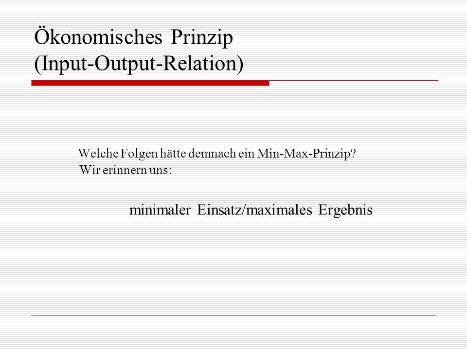 Ökonomisches Prinzip (Input-Output-Relation)