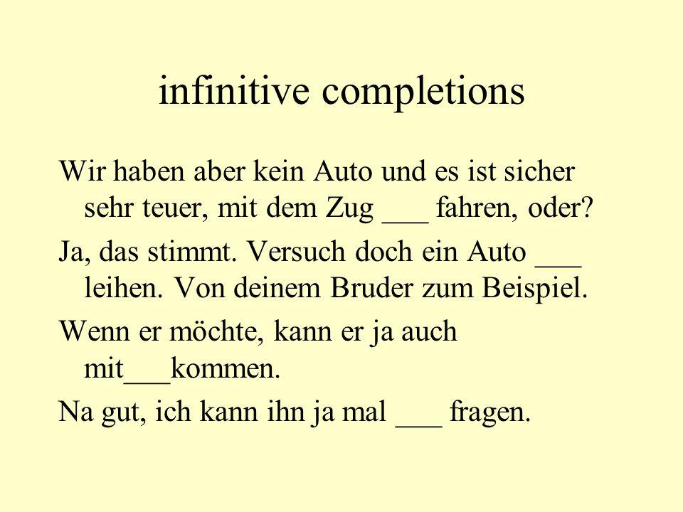 infinitive completions
