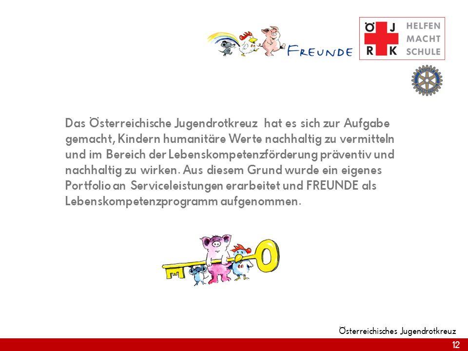 Das Österreichische Jugendrotkreuz hat es sich zur Aufgabe gemacht, Kindern humanitäre Werte nachhaltig zu vermitteln und im Bereich der Lebenskompetenzförderung präventiv und nachhaltig zu wirken.