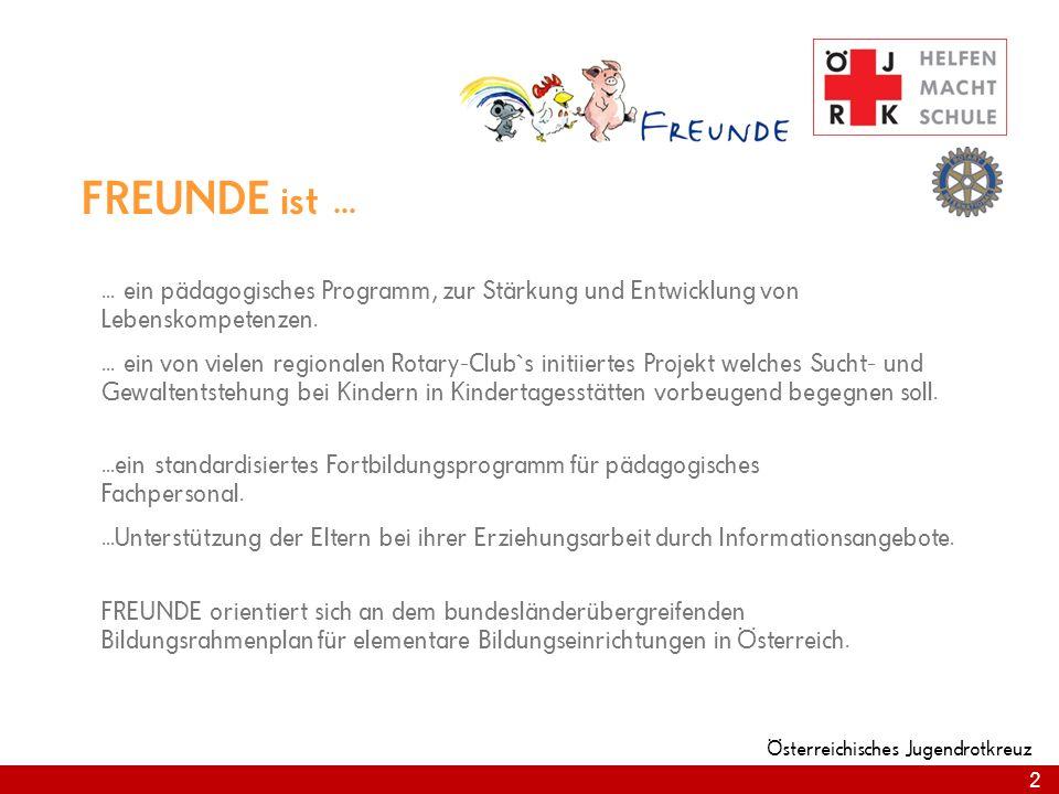 FREUNDE ist ... ... ein pädagogisches Programm, zur Stärkung und Entwicklung von Lebenskompetenzen.