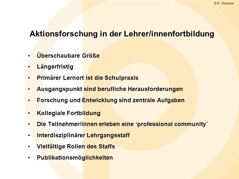 Aktionsforschung in der Lehrer/innenfortbildung
