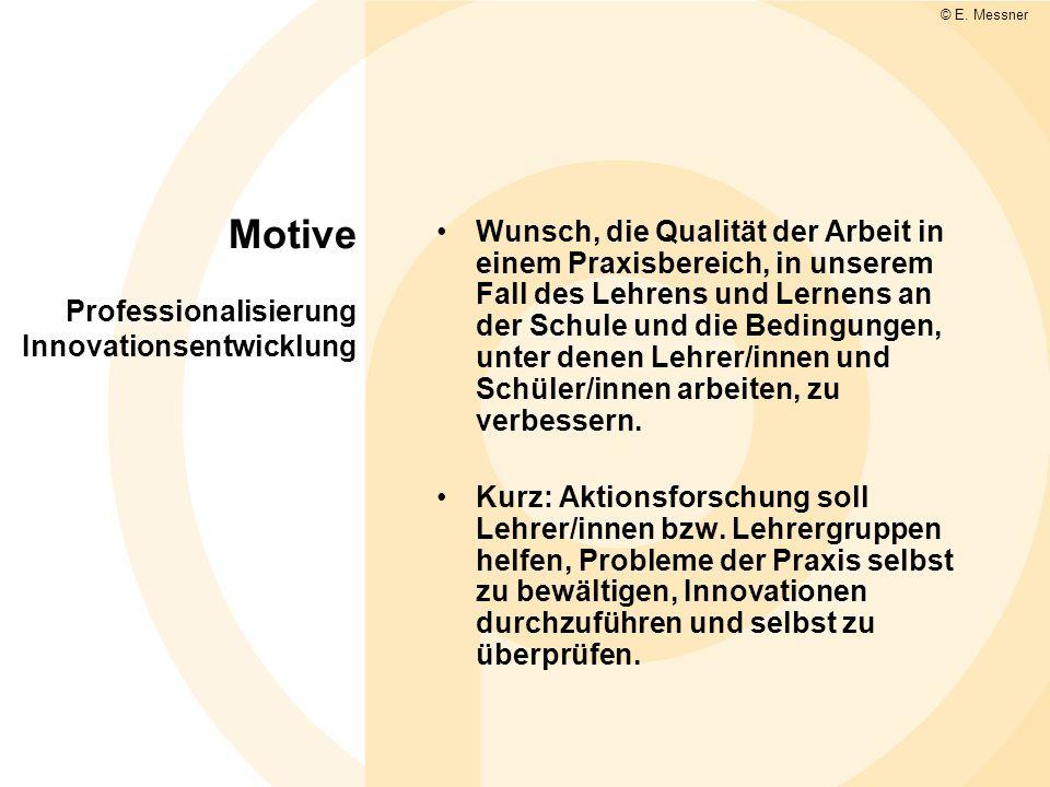 Motive Professionalisierung Innovationsentwicklung