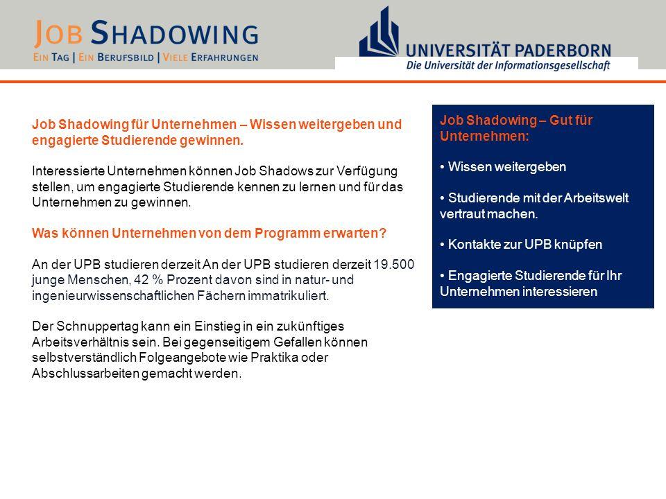 Job Shadowing – Gut für Unternehmen: