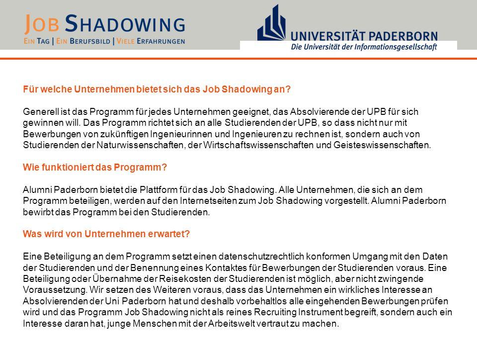 Für welche Unternehmen bietet sich das Job Shadowing an