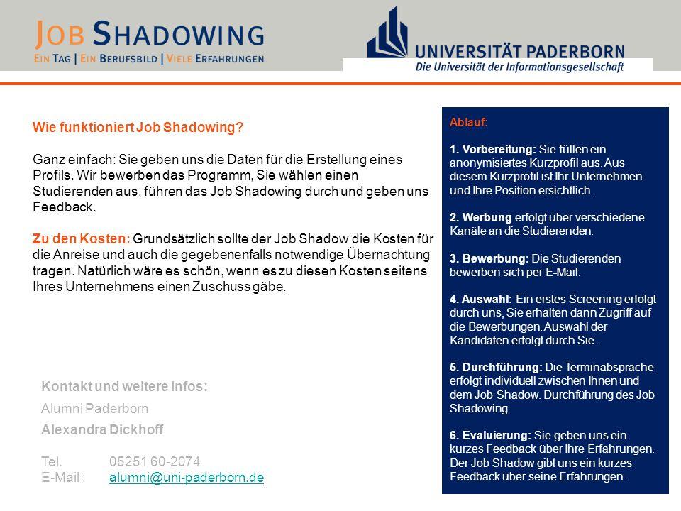 Wie funktioniert Job Shadowing