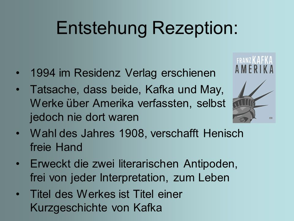 Entstehung Rezeption: