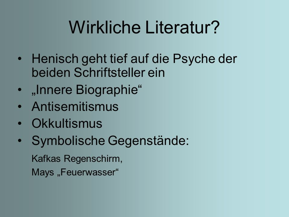 """Wirkliche Literatur Henisch geht tief auf die Psyche der beiden Schriftsteller ein. """"Innere Biographie"""
