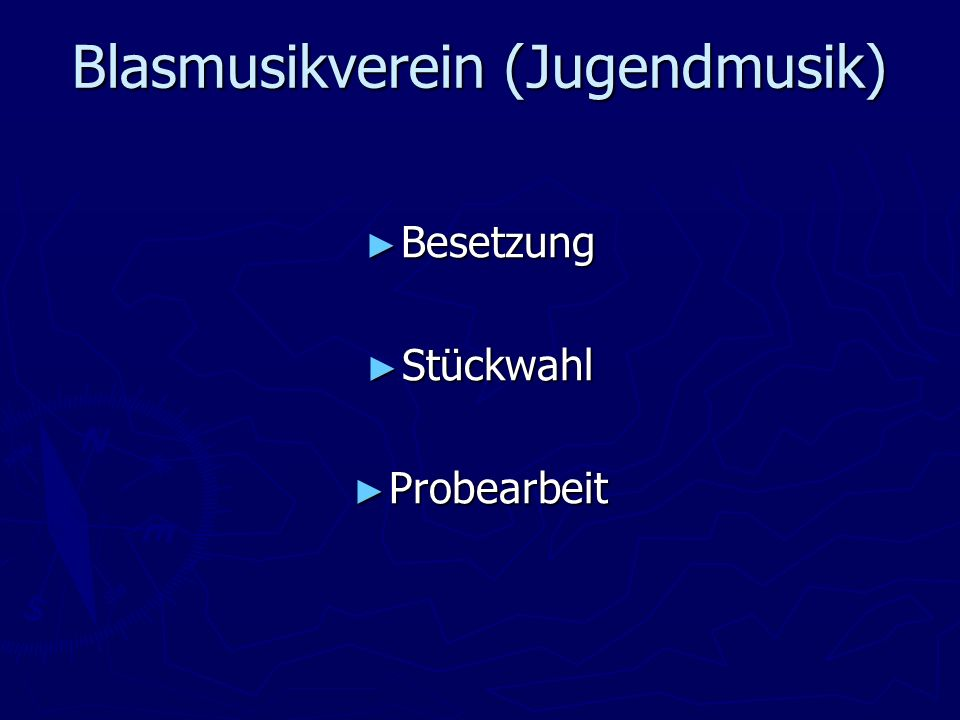 Blasmusikverein (Jugendmusik)