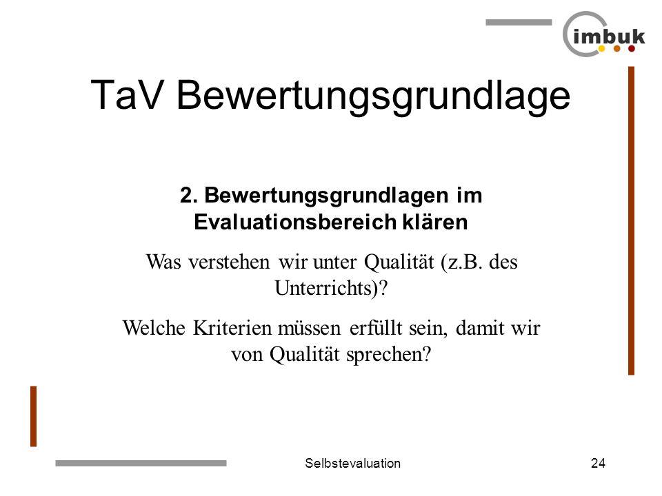 TaV Bewertungsgrundlage