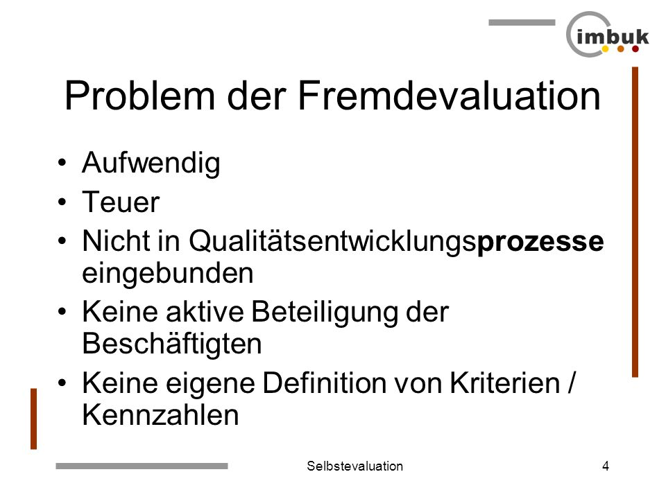 Problem der Fremdevaluation