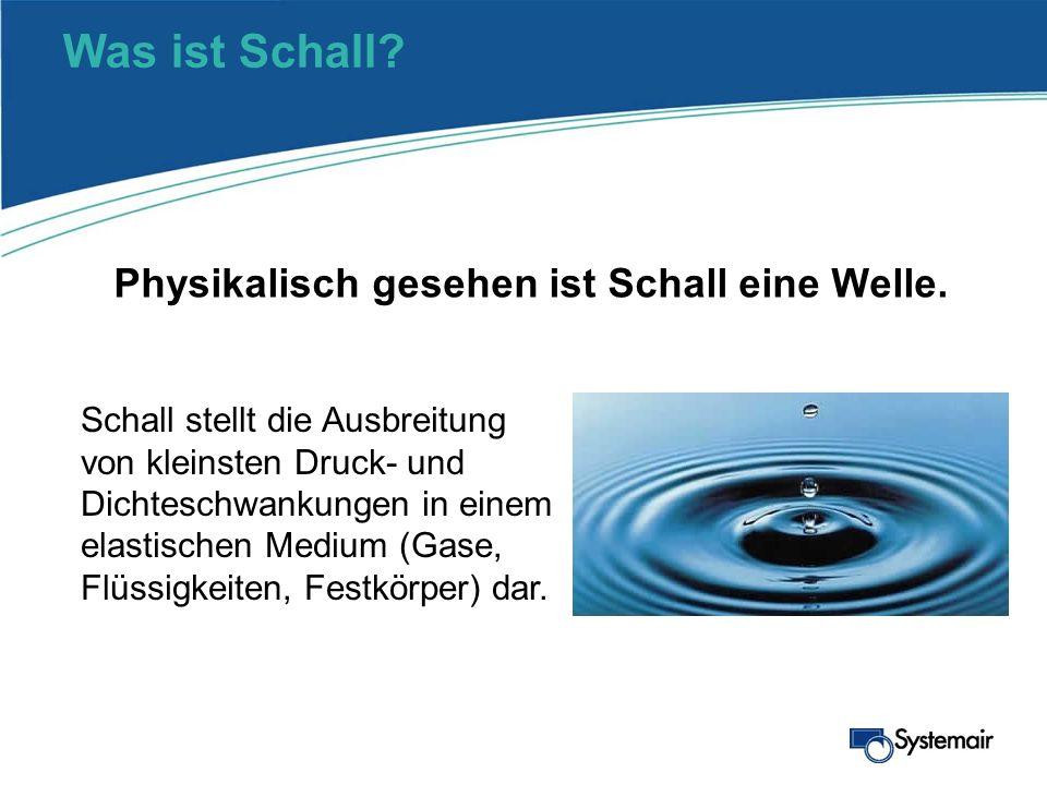 Was ist Schall Physikalisch gesehen ist Schall eine Welle.