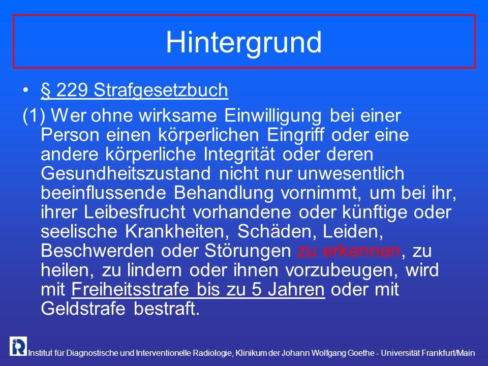 Hintergrund § 229 Strafgesetzbuch