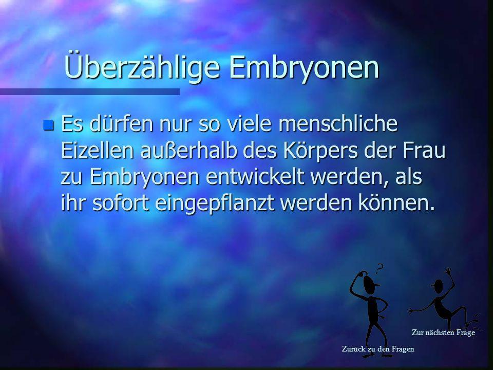 Überzählige Embryonen