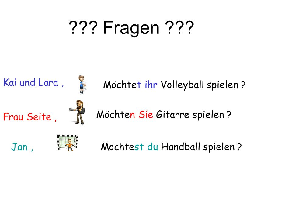 Fragen Kai und Lara , Möchtet ihr Volleyball spielen