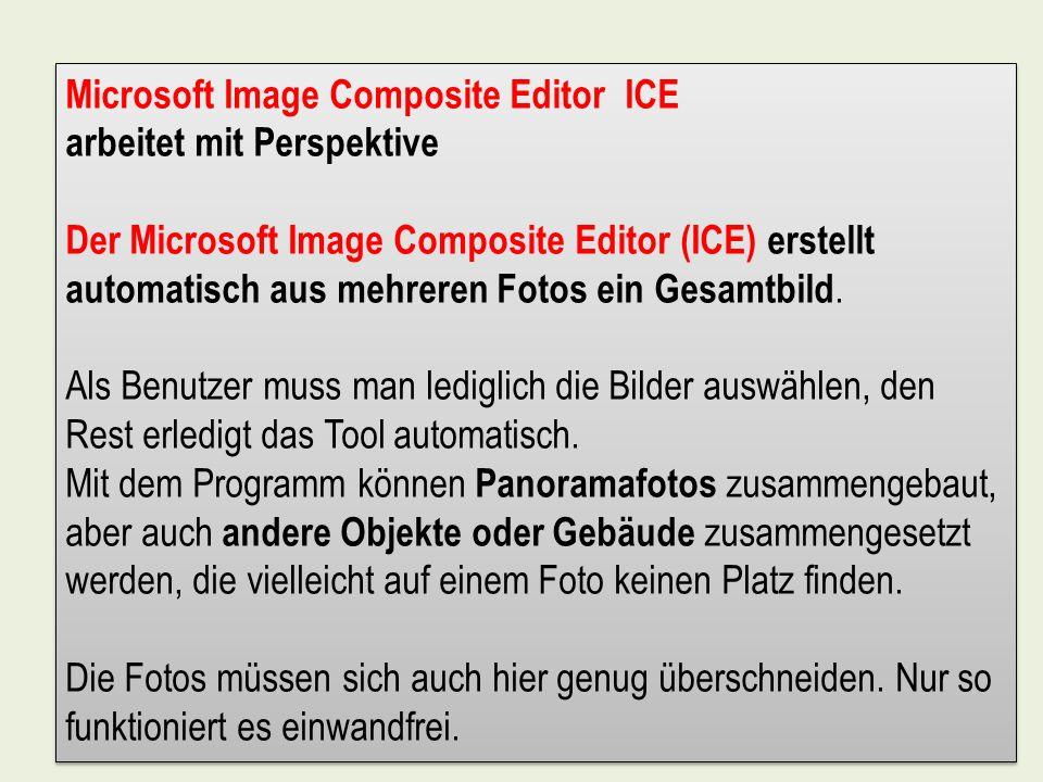 Microsoft Image Composite Editor ICE