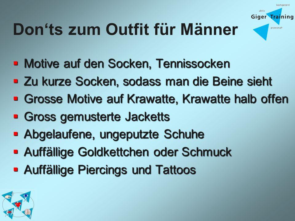 Don'ts zum Outfit für Männer