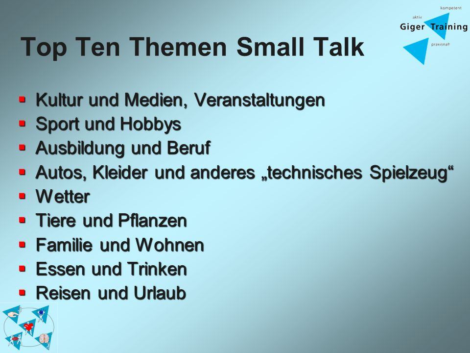 Top Ten Themen Small Talk