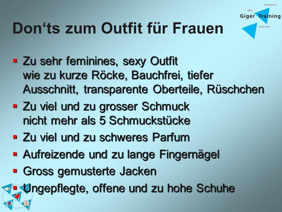 Don'ts zum Outfit für Frauen